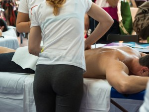 low back massage with NKT at spa alexis in Bellevue, WA.
