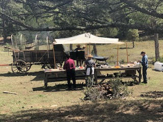 Chefs on the trail ride